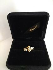 14K Yellow Gold Marquise Cut Diamond Wedding Ring Set Size 6 Dia Weight .50 ~