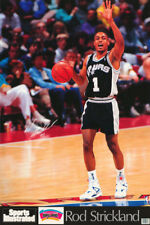 LOT OF 2 POSTERS:NBA  BASKETBALL: ROD STRICKLAND - SPURS  FREE SHIP #7431  RW3 N
