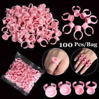 Disposable Tattoo Ink Pigments Cup Ring Eyelash Extension Pallet Glue Holder New