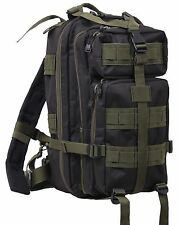 """Olive Drab & Black Medium Transport Pack - Rothco 17"""" MOLLE Tactical Backpack"""