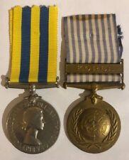 Original Korea British & UN Korean War medal pair