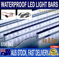 4X12V Waterproof Cool White 5630 Led Strip Light Bars For Car Camping Boat Cig