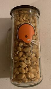 Cleveland Browns NFL Vintage Fisher Peanuts Glass Mug NOS Full Unopened