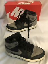 OG NIKE AIR JORDAN RETRO 1 HIGH HI Shadow Gray Black banned SZ 13c TODDLER BOYS