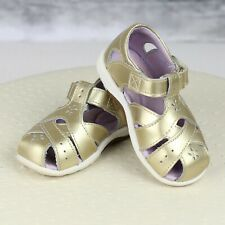 Stride Rite Tulip Metallic Gold Leather Sandals Shoes - Toddler Girls 6 - EUC!