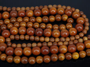 Natural Wood Sandalwood Rosewood Round Spacer Loose Beads 15.5'' 6mm 8mm 10mm