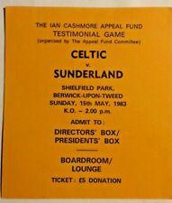 More details for celtic v sunderland match ticket ian cashmore appeal testimonial game 15/5/83.