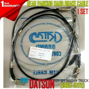 FOR DATSUN 520 521 NISSAN PICKUP 65-72 70 REAR PARKING HAND BRAKE CABLE SET NEW
