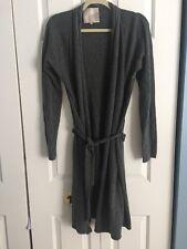 Victoria's Secret Grey Long Open Cardigan Sweater Size L
