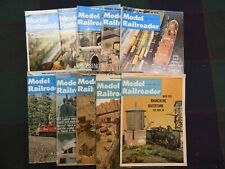 Vintage Lot of 10 Model Railroader Magazine - Mixed 1965-1980 - Good Condition