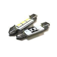 2x Smart Fortwo Bright Xenon Blanco 3smd Led Canbus matrícula Bombillas
