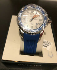 Bulova Men's 98B208 Stainless Steel Automatic Watch with Blue Rubber Band