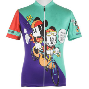 Cycling Jersey Team Tandem Mickey Minnie Mouse Short Sleeve Pro Clothing Bike
