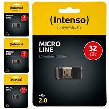 Clé USB ULTRA Slim mini cle 4 8 16 32 Go Gb intenso Line USB 2.0 pour autoradio
