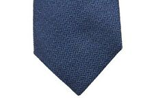 Battisti Tie Royal blue chevron weave, pure wool