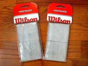 Wilson Wristbands - 2 Packages per order - Brand New! - Gray