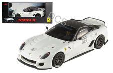 Hot Wheels Elite Edition Ferrari 599XX  #2 White 1/43