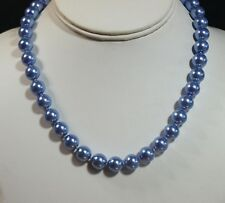Vintage Style Coloured Glass Faux Pearl Necklace
