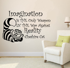Wall Decal Alice In Wonderland Cheshire Cat Quote Imagination Is The Only...a234