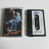 SHAKIN' STEVENS LET'S BOOGIE CASSETTE TAPE 1987 PAPER LABEL EPIC CBS UK