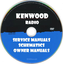 Kenwood Radio Service Owner Manuals & Schematics- PDFs on DVD- Huge Set