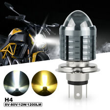 H4 9003 HB2 LED Motorcycle Headlight Bulb Hi/Lo 3000K Yellow 6000K White 12V-80V