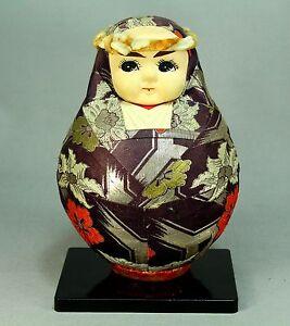 * Japanese Traditional KIMEKOMI Doll Signed RUMIKO MASAI