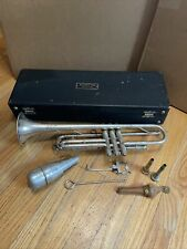 Vintage Martin Handcraft Dansant Silver Trumpet Ser#83779 Case With Accessories