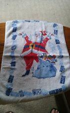 New listing Vintage Happy-Land Santa Claus Hand Towel Christmas Holiday