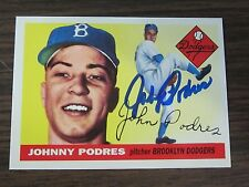 1995 Dodgers Archive #93 Johnny Podres Autographed  Signed card Brooklyn Dodgers