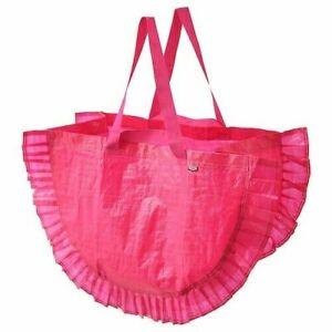 Ikea Carrier Bag Shopping Laundry Foldable Christmas Large Reusable Pink 16galon