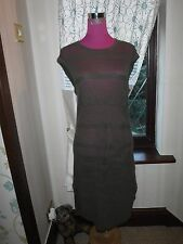 Stunning  All Saints Band Dress Dark Khaki Size 10 Excellent Condition