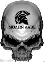 MOLON LABE SKUL  HARD HAT TOOL BOX HELMET BUMPER STICKER DECAL MADE IN USA