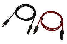 1 Pair 5 ft MC4 Solar Panel Extension Connector 12 AWG PV Cable Wire Blk/Red