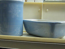 HARTSTONE SNOW PATTERN UTENSIL JAR AND LOAF PAN - GREAT ALL WINTER!  $55 VALUE