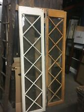 Pair mission Tudor style french doors - c1890-1900 78� x 18� x 1.75� good glass
