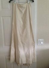 Carmen Marc Valvo Champagne Strapless Formal Dress Gown ~ Skirt & Corset Top