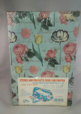 New Pioneer Photo Video Box Style B-1 Flowers Floral Blue