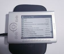 Sony Digital E-Book Reader Silver PRS-300 Bundle w/Case -Working+A lot of Books