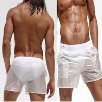 Fashion Men's Beach Trousers Sexy Translucent Shorts Casual Pants Sweatpants New
