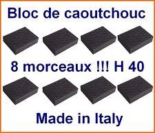 8 X bloc de caoutchouc 160x120x40 mm. pour Pont elevateur - tampons - Italie