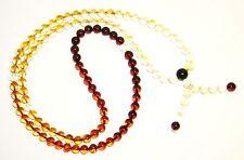 Genuine Baltic Amber Buddhist Mala rosary prayer 108 beads rainbow 6.5 mm 佛教琥珀念珠
