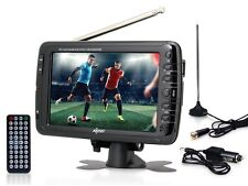 "AXESS TV1703-7 7"" LCD Portable/Rechargeable Digital TV +AC/DC Power +USB/SD Slot"