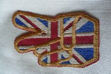 Vintage? military? finger hand England? embroidered patch badge,free u.k. p&p
