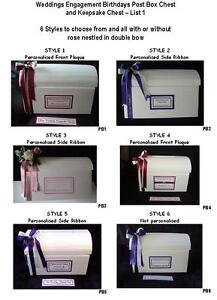 Personalised Post Chest Card Box Weddings Engagements Birthdays List 1-PB1-6