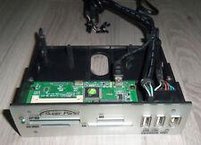 "Lector de tarjetas Vintage 5 1/4 "" Super Panel CF SMC SD/MMC MS USB Fire Audio"