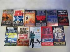 BIG Lot of (11) ROBERT LUDLUM Spy Thriller Books COVERT ONE SERIES NEAR COMPLETE