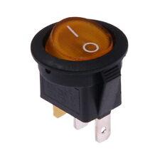 Interruttore a Bilanciere 230V On-Off Jaune Illuminato Tondo Diametro 23mm