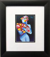 """Peter Max """"Blue Fan Dancer"""" NEWLY CUSTOM FRAMED Pop Art Poster"""