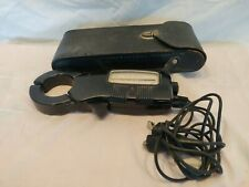 Vintage General Electric GE Volts &  Amps Meter w/Leather Case, nice Condition.
